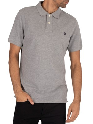Timberland Branded Polo Shirt - Medium Grey Heather