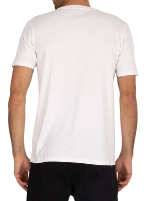 Timberland Colour Block T-Shirt - White/Medium Grey Heather