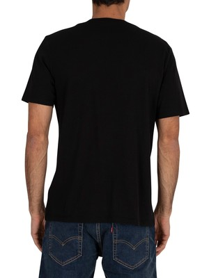 Timberland Colour Block T-Shirt - Black/Medium Grey Heather