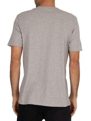 Timberland Established 1973 T-Shirt - Medium Grey Heather/White