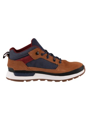Timberland Field Trekker Low Hiker Boots - Medium Brown Suede