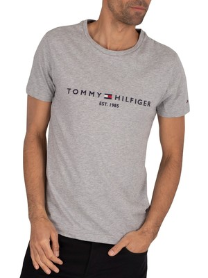 Tommy Hilfiger Core Logo T-Shirt - Cloud Heather