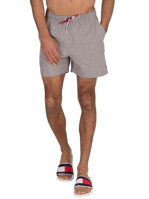 Tommy Hilfiger Medium Drawstring Swimshorts - Grey Heather