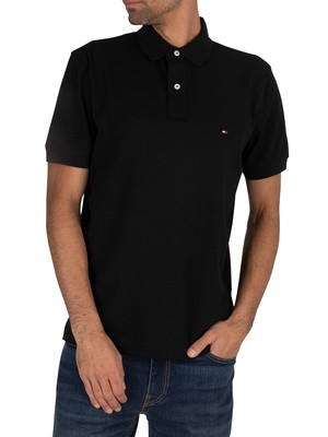 Tommy Hilfiger Regular Polo Shirt - Flag Black