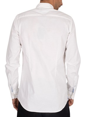 Tommy Hilfiger Slim Fit Stretch Oxford Shirt - Bright White