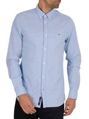 Tommy Hilfiger Slim Fit Stretch Oxford Shirt - Blue