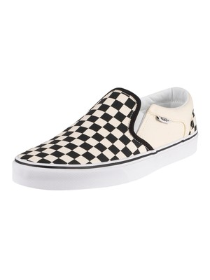 Vans Asher Checkerboard Trainers - Black/Natural