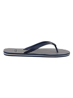 Hackett London Bengal Flip Flops - Navy
