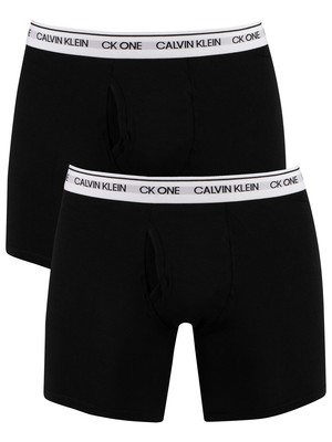 Calvin Klein 2 Pack CK One Boxer Briefs - Black