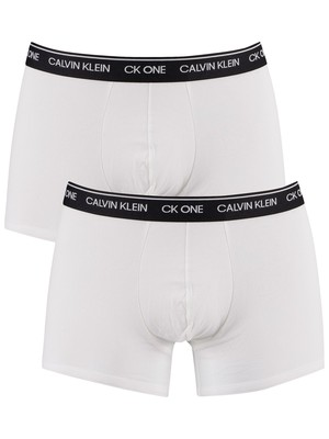 Calvin Klein 2 Pack CK One Trunks - White