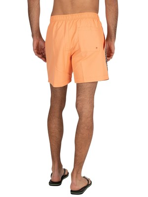 Calvin Klein Medium Drawstring Swim Shorts - Cadmium Orange