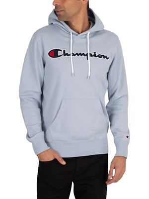 Champion Graphic Pullover Hoodie - Light Blue