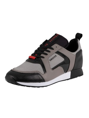Cruyff Lusso Leather Trainers - White/Grey/Black
