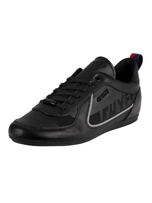 Cruyff Nite Crawler Leather Trainers - Black
