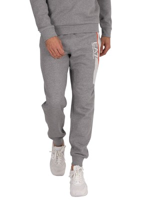 EA7 Logo Joggers - Medium Grey Marl