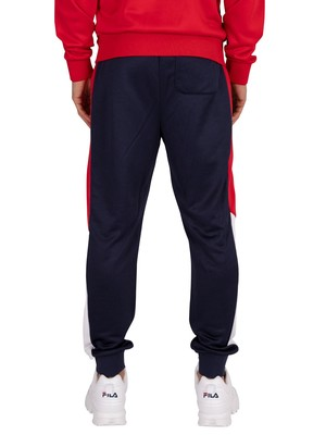 Fila Grady Colour Block Joggers - Peacoat/Red/White