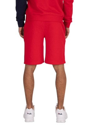 Fila Saburo Cut And Sew Striped Sweat Shorts - Red/Peacoat/White