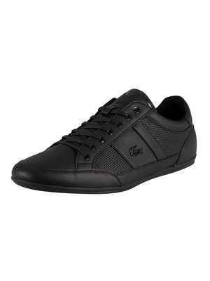 Lacoste Chaymon 120 3 CMA Leather Trainers - Black/Black
