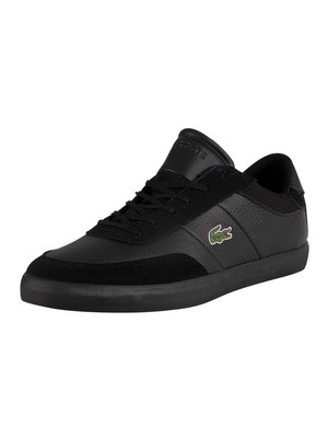 Lacoste Court-Master 120 4 CMA Leather Trainers - Black/Black
