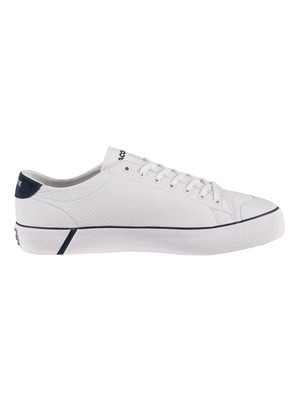 Lacoste Gripshot 120 5 CMA Leather Trainers - White/Navy