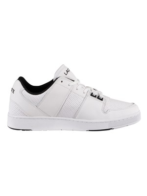 Lacoste Thrill 120 3 US SMA Leather Trainers - White/Black