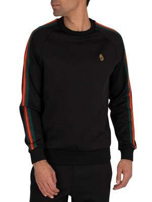 Luke 1977 Daley Vintage Tape Sweatshirt - Jet Black