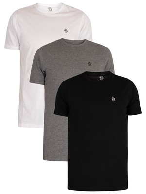 Luke 1977 Johnys 3 Pack T-Shirt - Black/Grey/White