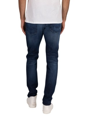Replay Anbass Hyperflex Clouds Jeans - Dark Blue