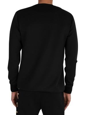 Sik Silk Crew Sweatshirt - Black/Gold