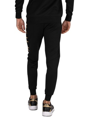 Sik Silk Fitted Panel Cuff Joggers - Black/Gold
