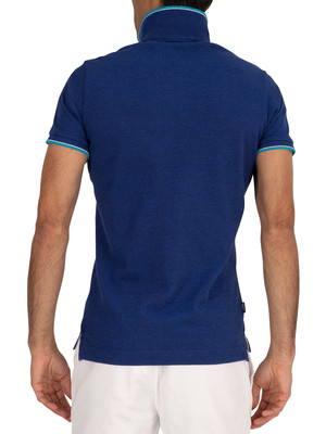 Superdry Poolside Pique Polo Shirt - Eclipse Navy