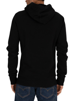 Superdry Shirt Shop Bonded Pullover Hoodie - Black