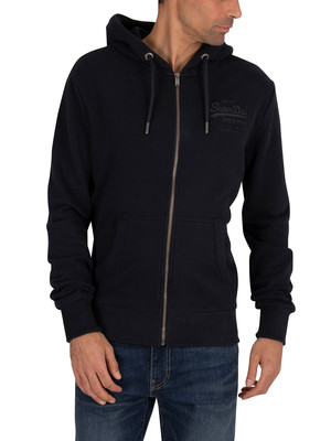 Superdry Tonal Injection Zip Hoodie - Eclipse Navy