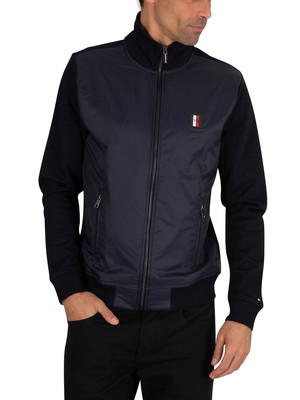 Tommy Hilfiger Mixed Media Zip Jacket - Desert Sky