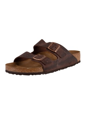 Birkenstock Arizona Oiled Leather Sandals - Habana