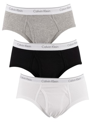 Calvin Klein 3 Pack Briefs - Black/White/Grey Heather