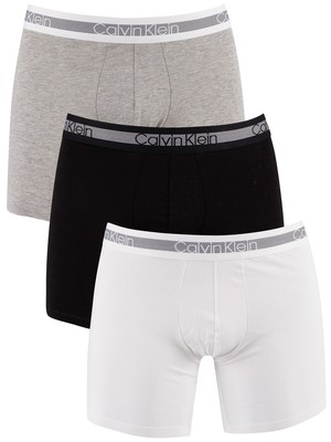 Calvin Klein 3 Pack Cooling Boxer Briefs - Grey Heather/Black/White