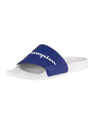 Champion Varsity 2.0 Sliders - White/Blue