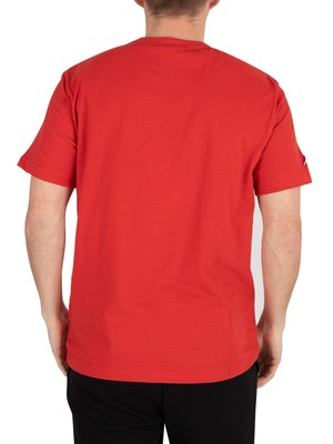 Kappa Authentic Tahiti T-Shirt - Red Blaze/White