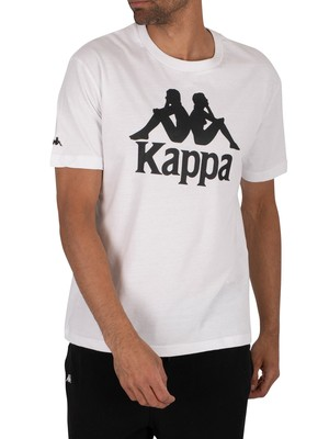 Kappa Authentic Tahiti T-Shirt - White/Black