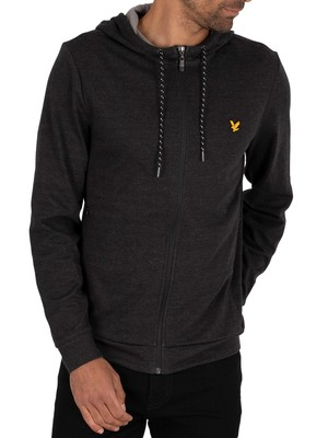 Lyle & Scott Lightweight Training Zip Hoodie - True Black Marl
