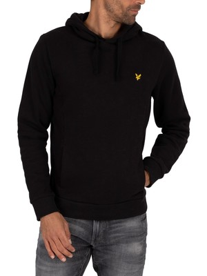 Lyle & Scott Panelled Hoodie - True Black