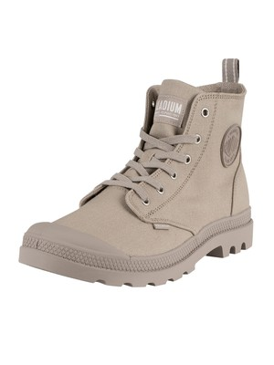 Palladium Pampa Hi Zip Canvas Boots - Aluminium