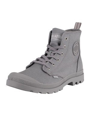 Palladium Pampa Hi Zip Canvas Boots - Titanium