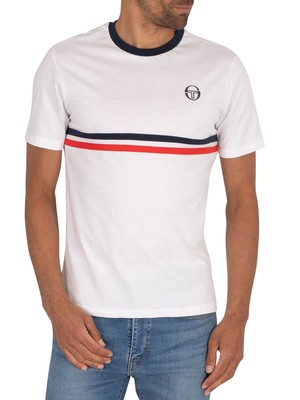 Sergio Tacchini Friday T-Shirt - White/Navy