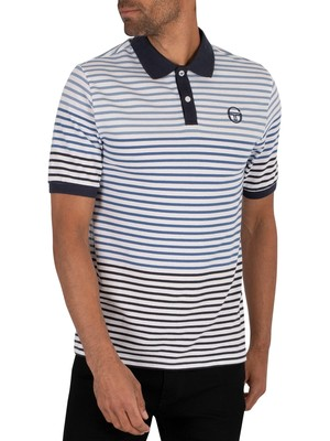 Sergio Tacchini Friend Polo Shirt - White/Navy