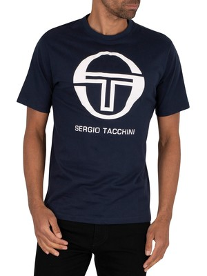 Sergio Tacchini Iberis Graphic T-Shirt - Navy/White