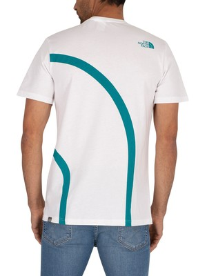 The North Face Graphic Flow T-Shirt - White/Fanfare Green