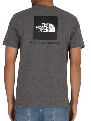 The North Face Red Box T-Shirt - Medium Grey Heather