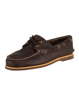 Timberland Classic Leather Boat Shoes - Olive Full Grain